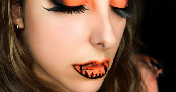 Makeup Artist Blends Glamour And Horror In Amazing Lip Art Designs